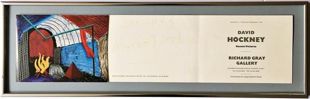 "David Hockney, 'David Hockney: Recent Pictures, Hand signed and inscribed ""for Ken"" by David Hockney', 1992, Alpha 137 Gallery Auction"