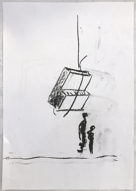 Adel Abdessemed, 'Play it again', 2019, Drawing, Collage or other Work on Paper, Charcoal on paper recto/ verso, Art Front Gallery