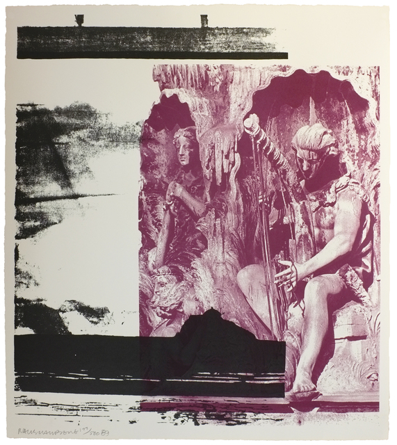 Robert Rauschenberg, 'Dallas Cares', 1998, Print, Lithograph in color on wove paper, amfAR Benefit Auction