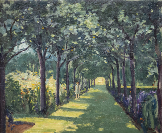 , 'An Avenue at Frinton-on-Sea, Essex with Miss Diana Churchill,' ca. 1922, Heather James Fine Art