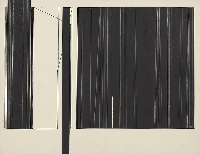 Luc Peire, 'Graphie 640', Painting, Ink and gouache on cardboard, Leclere