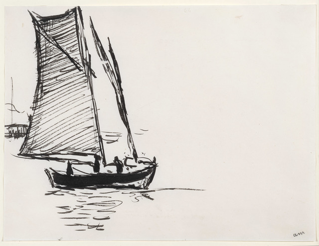 Albert Marquet, 'Voilier', c. 1914-1916, Drawing, Collage or other Work on Paper, Ink on paper, Connaught Brown