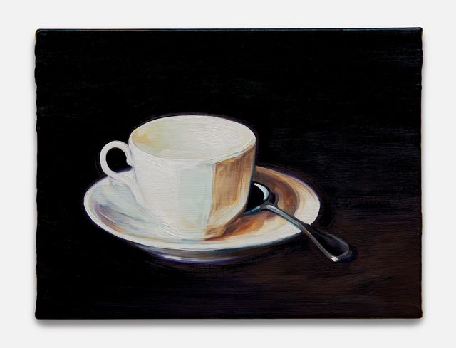 , 'White Cup and Saucer (after Fantin-Latour),' 2018, Almine Rech