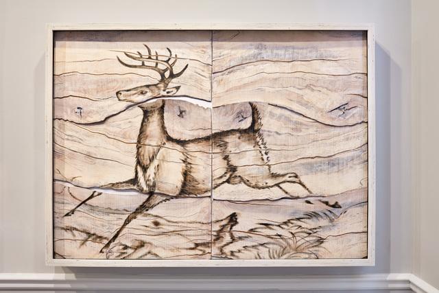 , 'Deer Engraving Painting,' 2017, Mark Moore Fine Art