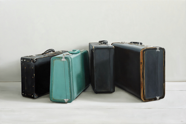 , 'Turquoise Suitcase,' 2018, George Billis Gallery
