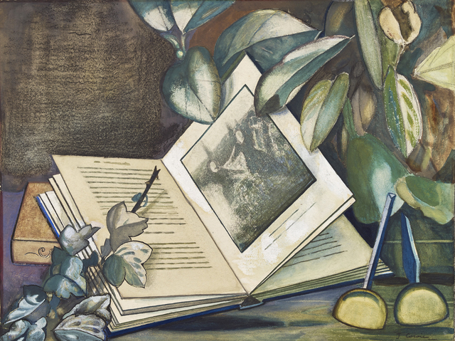 , 'Book and Leaves,' 1935, The Scottish Gallery