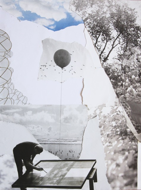 Richelle Gribble, 'Uplift', 2015, Mixed Media, Collage and resin on panel, Jonathan Ferrara Gallery