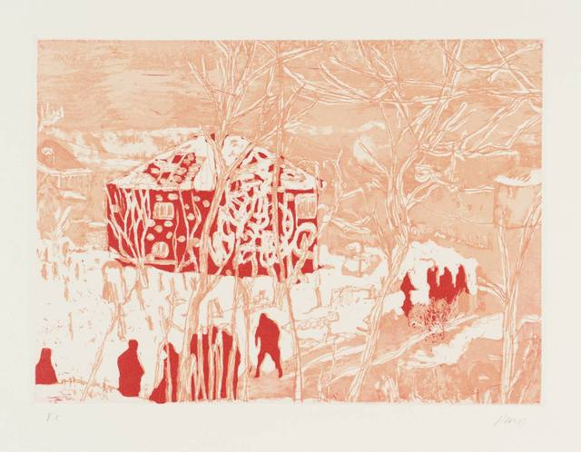, 'Red House from Ten Etchings ,' 1996, Galerie Maximillian