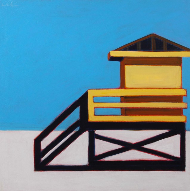 , 'Yellow Life Guard Station,' 2017, Caldwell Snyder Gallery