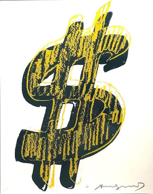 Andy Warhol, 'Dollar Sign, Yellow  (FS II.278)', 1982, Print, Screenprint on Lenox Museum Board., Revolver Gallery