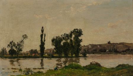 Washerwoman on the Banks of a River