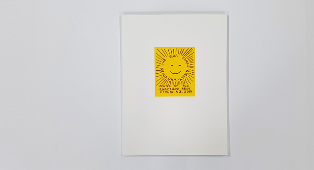 James Rielly, 'Who Loves the Sun', 2019, Auckland Print Studio