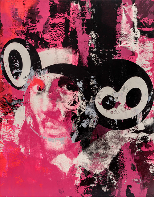 , 'Carmine Pink and Black,' 2018, Gagosian