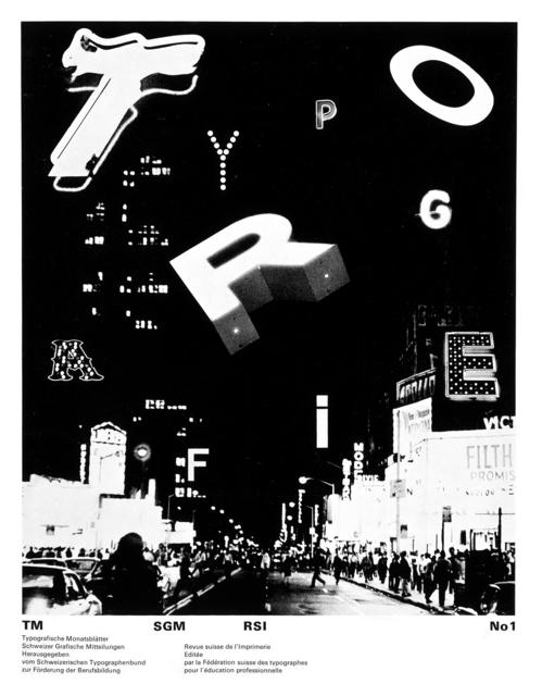 , 'Typografie,' 1970-1971, AIGA
