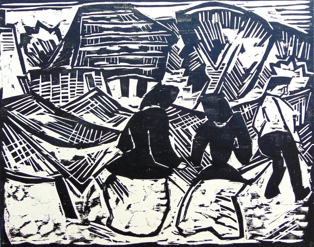 , 'By the Nets | Bei den Netzen,' 1914, Gilden's Art Gallery