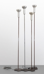 A set of four '1073' floor lamps