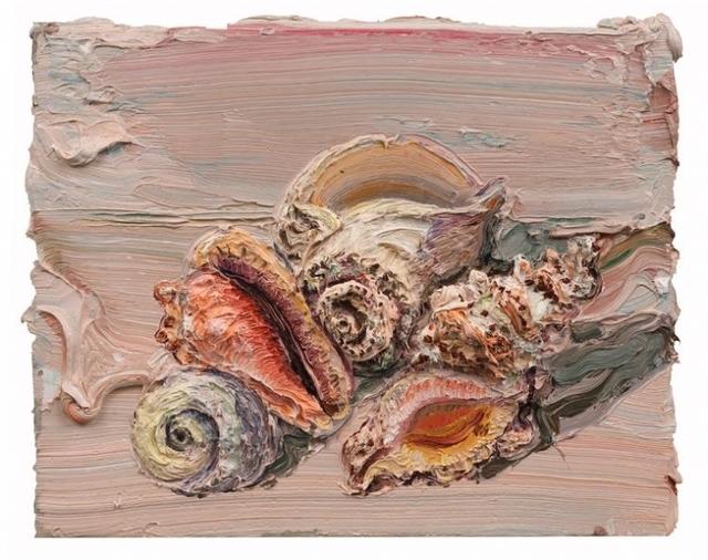 Allison Schulnik, 'Pink Shells #1', 2012, Mark Moore Fine Art