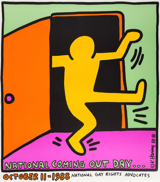 Keith Haring, 'First National Coming Out Day Poster', 1988, Rhodes