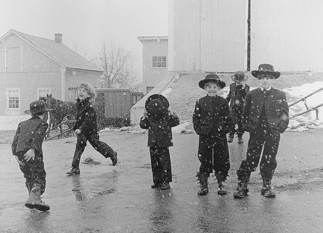George Tice, 'Amish Children Playing In Snow, Lancaster, PA', 1969, Photography, Silver Gelatin, Gallery 270