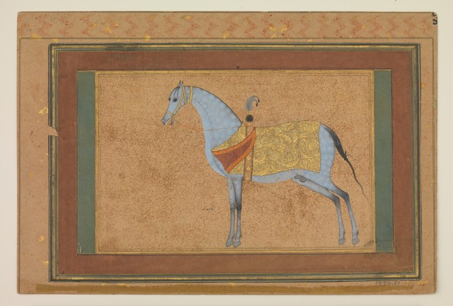 Habiballah of Sava, 'A Stallion', ca. 1601–1606, The Metropolitan Museum of Art