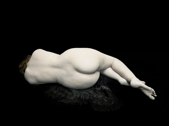 , 'Audrey lying away on black lace,' 2011, Blindspot Gallery