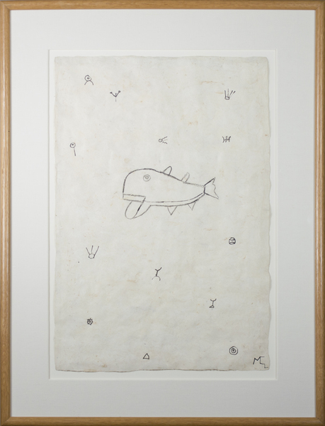 , 'Whale in a Sea of Symbols,' 1991, David Barnett Gallery