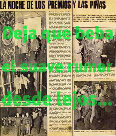 , '1968, por el culo te la entocho,' 2008, Galería Bacelos