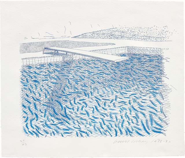 David Hockney, 'Lithographic Water Made of Lines and Crayon', 1978-80, Phillips