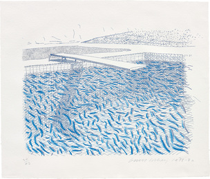Lithographic Water Made of Lines and Crayon