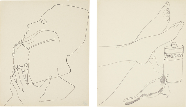 Andy Warhol, 'Untitled', Drawing, Collage or other Work on Paper, Ink on paper, two sided, Phillips
