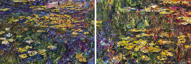 , 'Nymphéas, after Claude Monet (diptych),' 2013, Matthew Liu Fine Arts