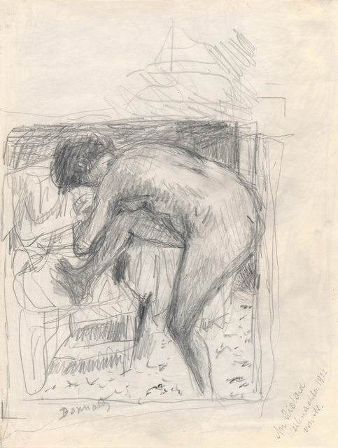 , 'Nude at the Bath Verso: Landscape,' ca. 1924, Jill Newhouse Gallery