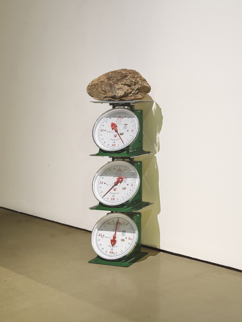 , 'Three Weight-scales and a Stone,' 2015, Gallery Hyundai