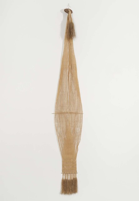 Lenore Tawney, 'The Egyptian', ca. 1962, Sculpture, Linen weaving with wood, Michael Rosenfeld Gallery
