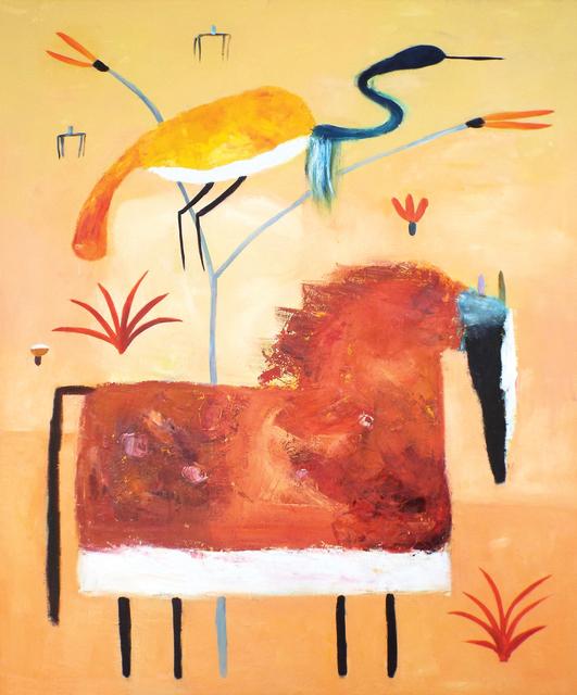 , 'Vermillion Horse in Pink Field,' 2016, Carter Burden Gallery
