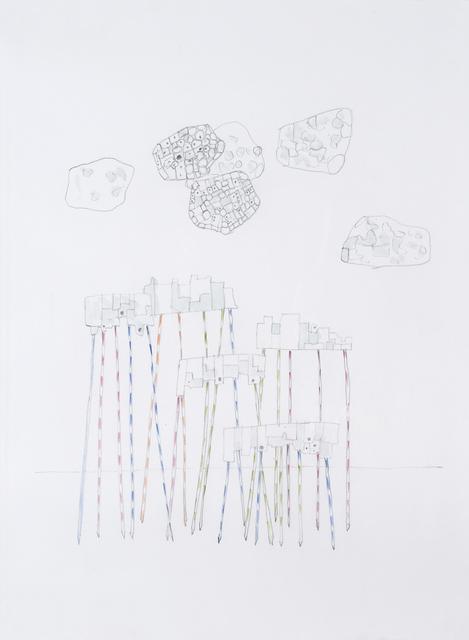 , 'Ville sur mikados,' 2012, Galerie Laurence Bernard
