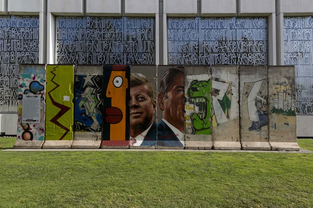 , 'The Wall Project Presented by the Wende Museum. Portions of the Berlin Wall, Los Angeles, California.,' 2012, Cantor Fitzgerald Gallery, Haverford College