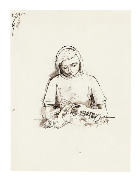 , 'Das handarbeitende Mädchen,' , Ludorff