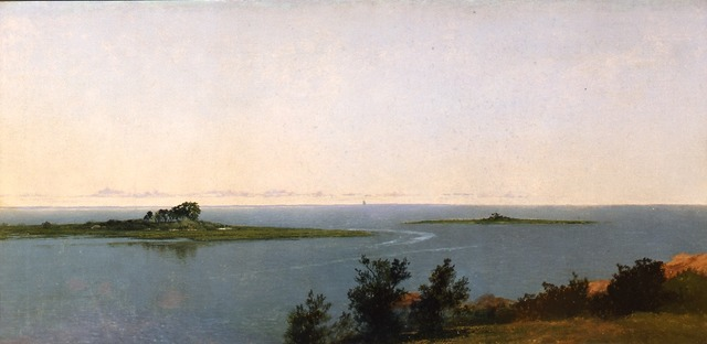 , 'Fish Island from Kensett's Studio on Contentment Island,' 1827, Montclair Art Museum