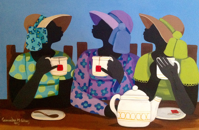 , 'Having Tea,' 2015, Zenith Gallery