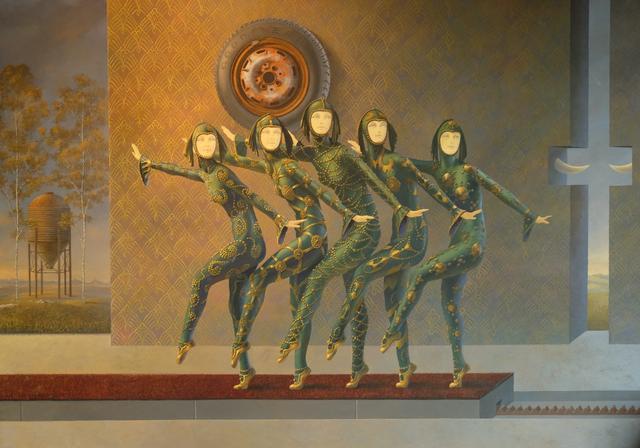 Reinhard Fluri, 'Aperçu', 2020, Painting, Oil and acrylic on wood, GALERIE URS REICHLIN