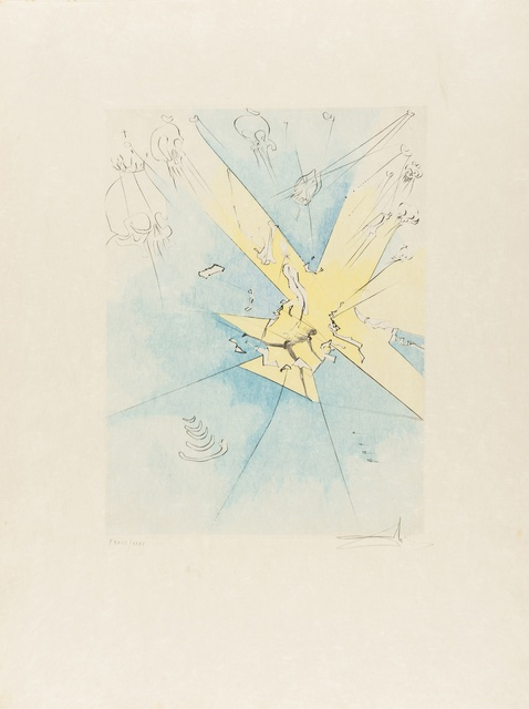 Salvador Dalí, 'A Shattering Entrance upon the American Stage (Field 74-8H; M&L 673d)', 1974, Print, Etching with extensive handcolouring, Forum Auctions