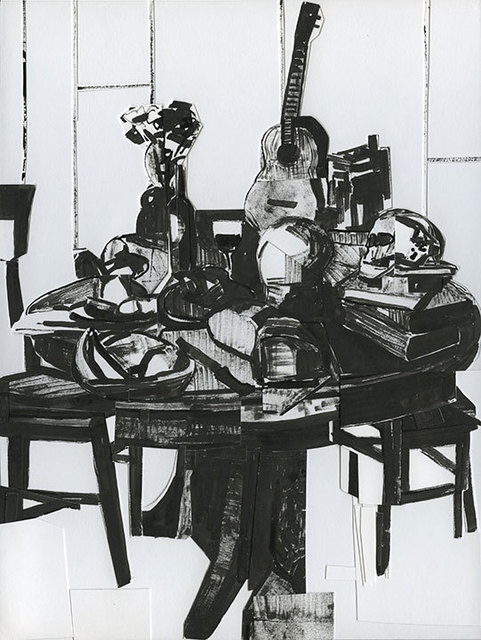 , 'Still Life with Skull and Ukelele,' 2014, David Lusk Gallery