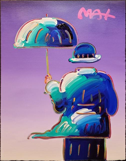 , 'Umbrella Man on Purple ,' 2014, Off The Wall Gallery