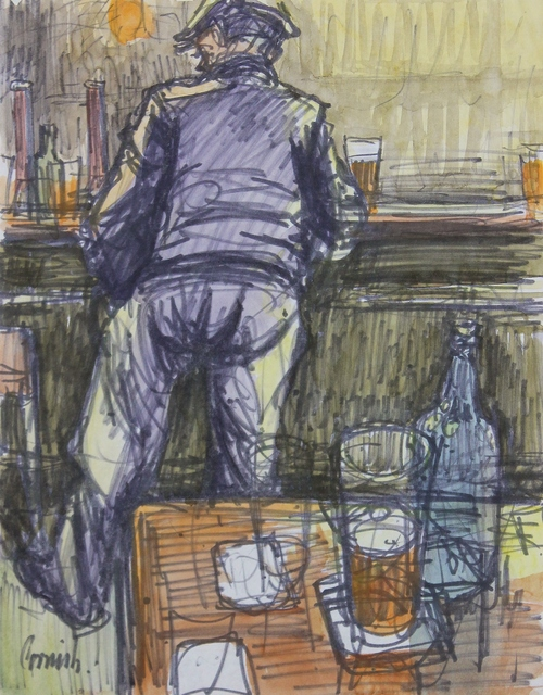 , 'Man at bar,' ca. 1968, Castlegate House Gallery