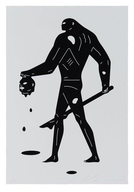 Cleon Peterson, 'Headless Man (Black & White)', 2019, Saguaro Gallery