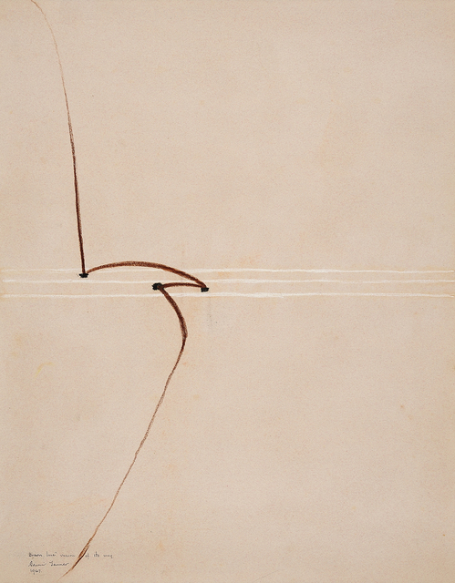 , 'Brown line unsure of its way,' 1967, Charles Nodrum Gallery