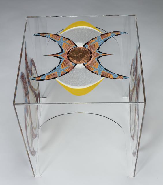 Tara Austin, 'Trillium #4', 2020, Design/Decorative Art, Oil, acrylic and bronze leaf on plexiglass, Joseph Nease Gallery