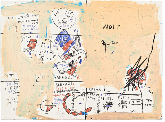Jean-Michel Basquiat, 'Wolf Sausage', 1982-2019, Taglialatella Galleries