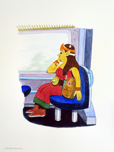 , 'Life Action Role Player On The Train,' 2016, V1 Gallery